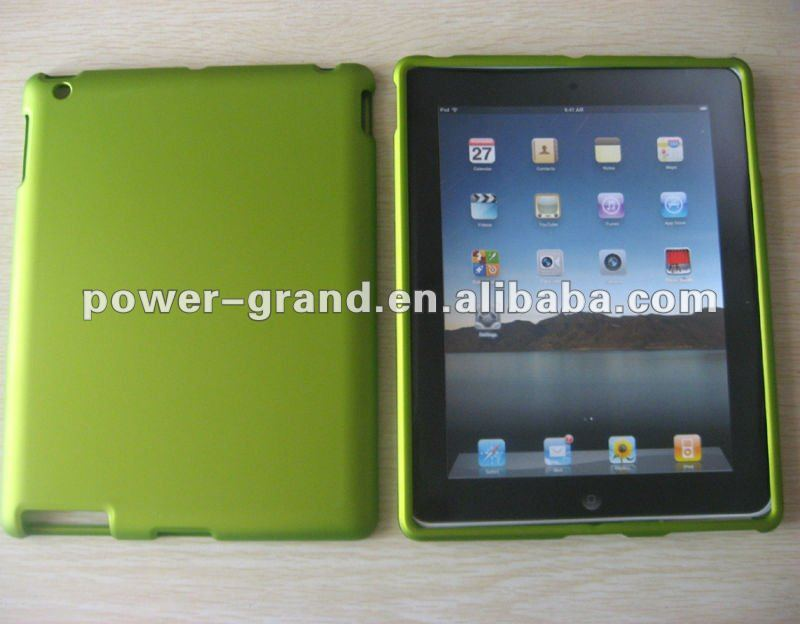 Clear or rubberized crystal case for Apple Ipad 2 Ipad2 (We accept Paypal and Escrow, OEM design/patter can be printed)