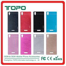 Wire drawing PC cover mobile phone case For Sony C3 E3 Z1 Z2 Z3 T2 T3 Z1mini Z3mini M2 Z4 E4 Z4mini C4 C5 Z5 M5 Z5 plus Z5mini