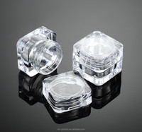 empty square transparent plastic container 5ml / 5g cosmetic sample jars
