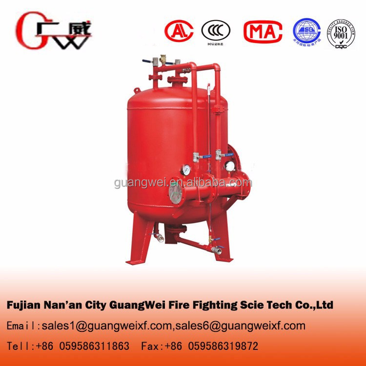 Foam extinguishing system fire foam bladder tank