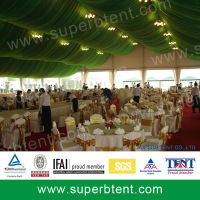 5000 people giant party tents with fireproof PVC