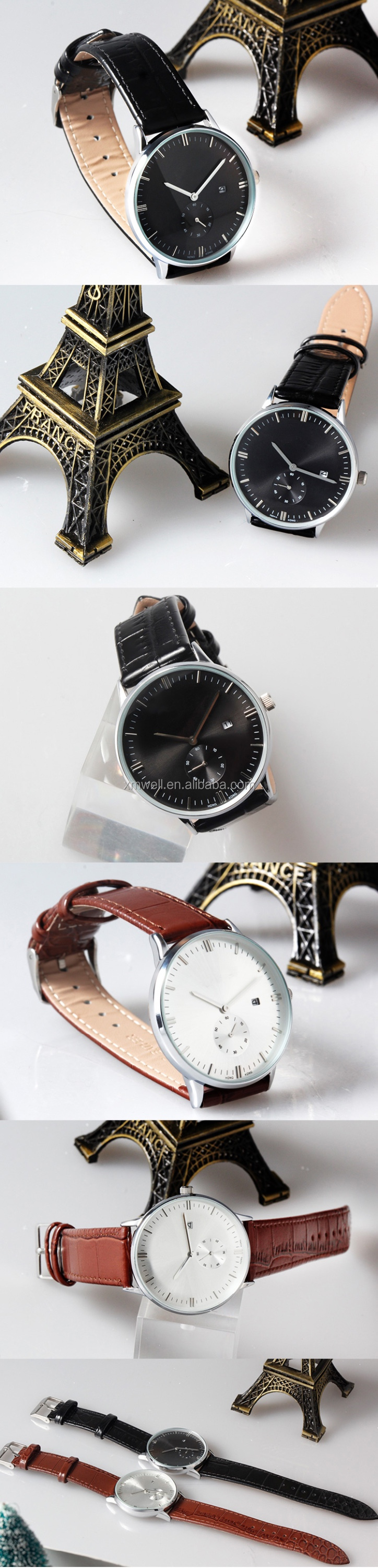 2017 high quality simple design business men's wrist watch