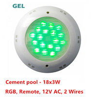 shenzhen 12v ac underwater lamp RGB 25W ip68 colorful led pool light