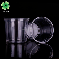 24 oz clear round plastic food container, plastic salad bowl with lids