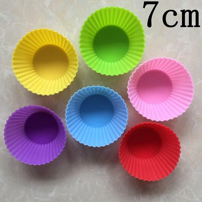 Heat Resistant Baking Cups Non Stick Silicone Cupcake Cups Silicone Rubber Cake Mold
