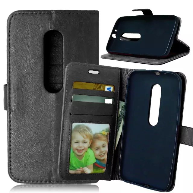 For Motorola Moto G3 Magnetic Flip PU Leather Wallet Case with Photo Frame Card Holder Stand fundas Mobile Phone Cover