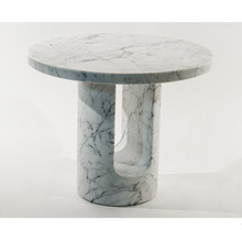 round marble top and base 2017 new design white marble coffee table