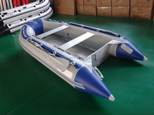 strong aluminum hull inflatable boat