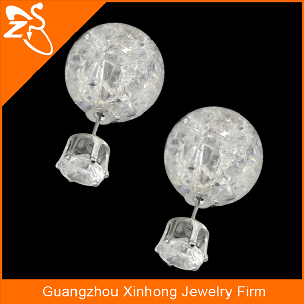 ES01633 Hot sale crystal earring stud base jewelry wholesale