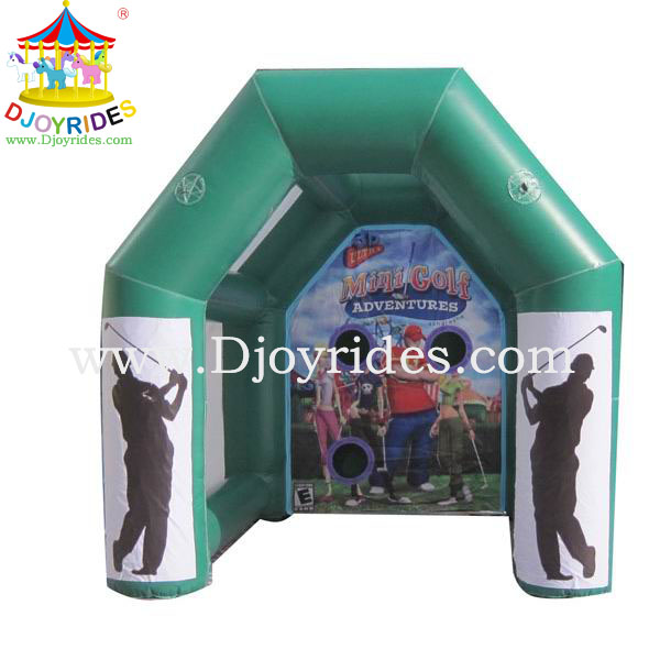 2014 most popular Outdoor Sports Funny Attractive Inflatable Mini Golf