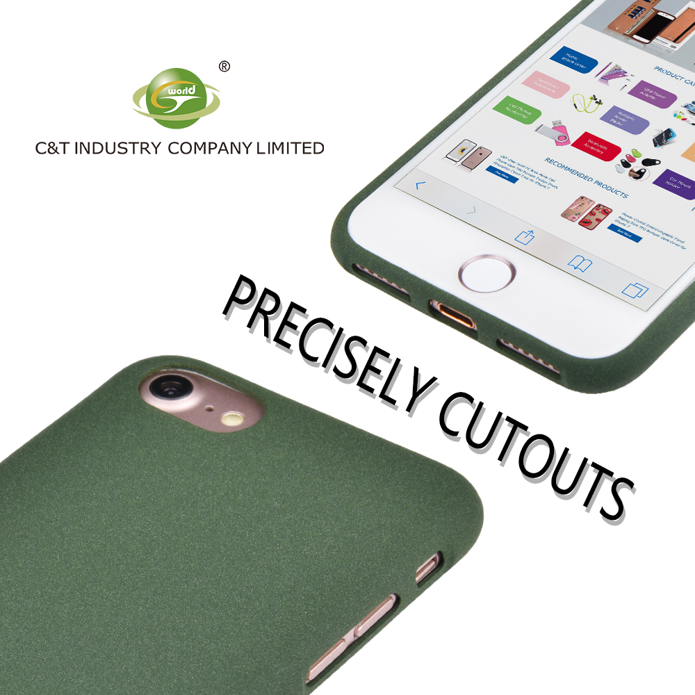 C&T Slim Fit Shockproof Liquid Silicone Gel Rubber Protective Case Soft Touch Back Cover for iPhone 7