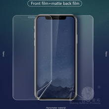 non slip texture cell phone front and back protective film for iPhone X screen protector