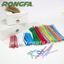 5mm x 7 inch environmentally gift packag paper twist ties