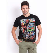 Wholesale silkscreen printing marvel cartoon super hero graphic t shirts