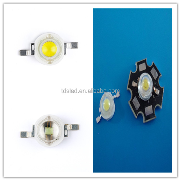Epistar 3W / 3 watt warm white High power Led with 2000K - 3000K Color For Coffee Shop lights