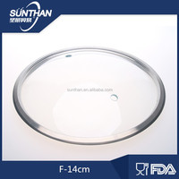 F type tempered glass pot strainer lid cooking pots parts