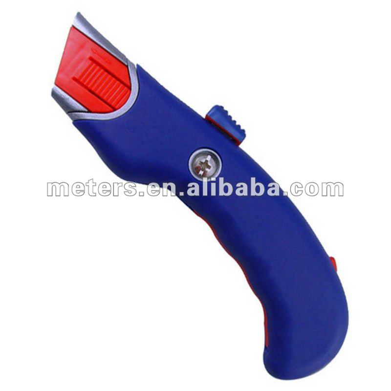 Zinc Alloy Auto Retractable Heavy Duty Safety Utility Cutter Knife