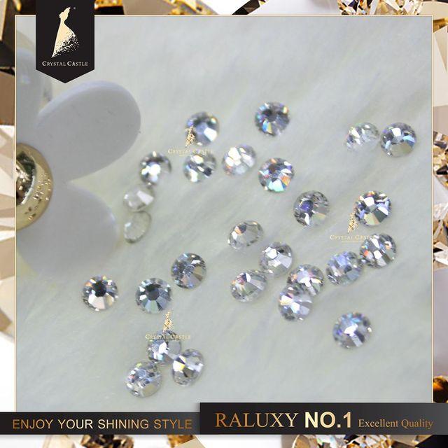 raluxy 5a ss8 flatback glass rhinestones wholesale quality kids dress blingbling decoration water crystal no dmc strass hot fix