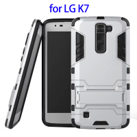 2 In 1 Belt Clip Rugged Kickstand Hybrid Combo Case for LG K7 Case