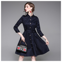 2017 Fashion Brand Elegant Army Green / Navy Bandage Formal Pictures Office Lady Dress for Ladies