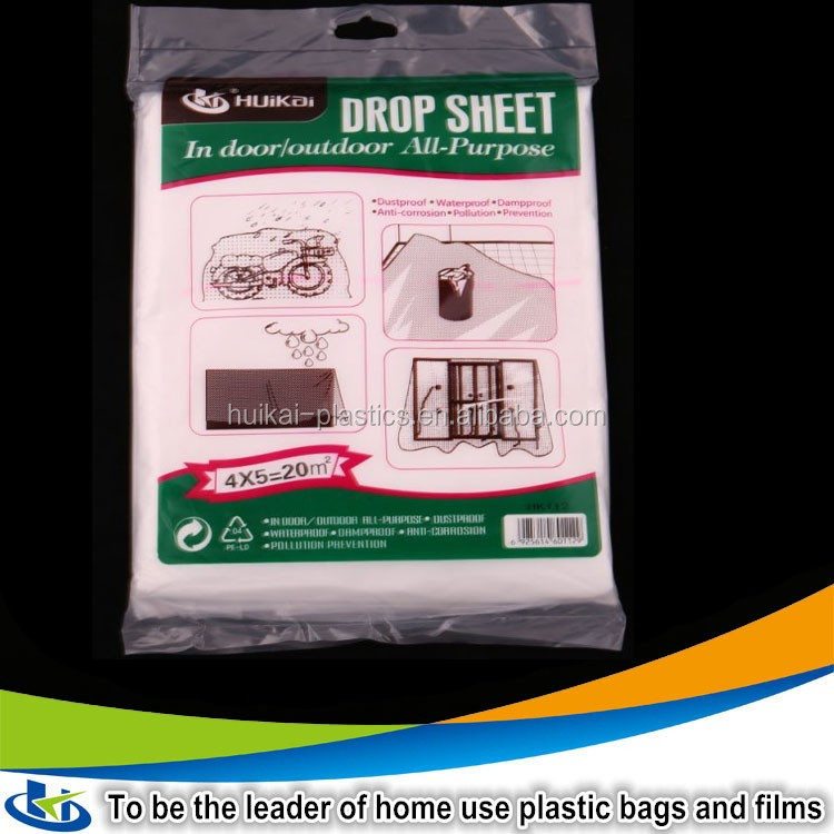 Multi-purpose waterproof plastic dust cover ldpe film scraps clear plastic window covers