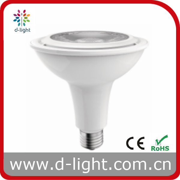 New Design PAR38 15W 1100lm E27 24 degree dimmable High Lumen Clear Len Cob Led light bulbs