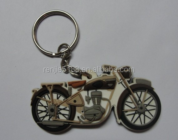 popular key chain Key ring rubber car motor motorcycle
