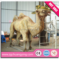 2016 hot sell the desert camel statues life size animal replica