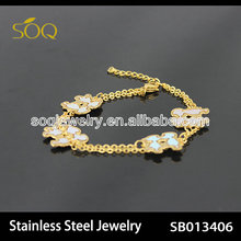 stainless steel gold plated hong kong jewelry wholesale