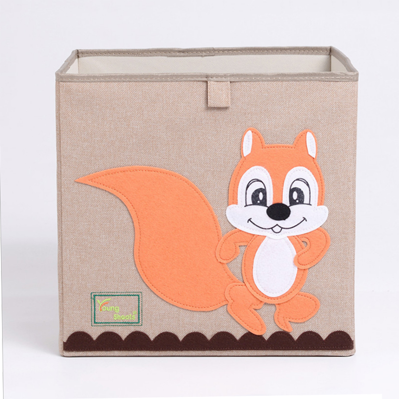 2019 Nonwoven Folding Cartoon Toy Storage Box Cardboard for Children
