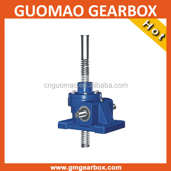 Adjustable worm gear screw house leveling jacks