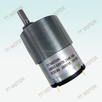 24v permanent magnet construction motor with 37mm gearbox