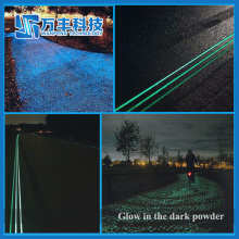 Glow in the Dark Pigment Photoluminescent Sand for more than 10 hours
