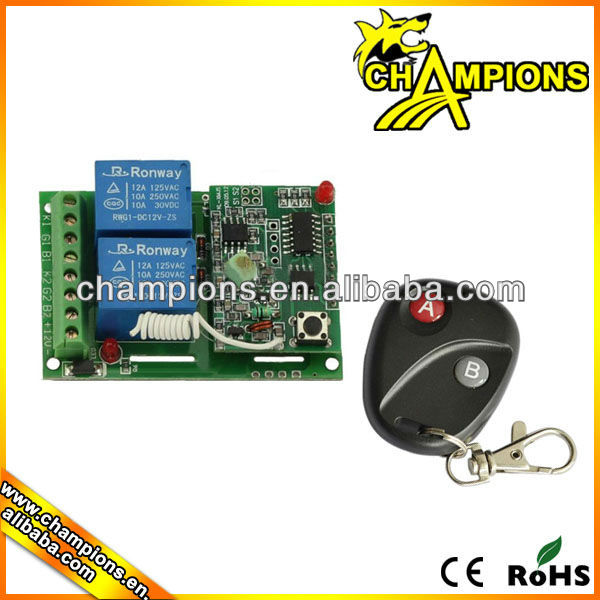 2 channel 6v remote control switch,wireless remote controller