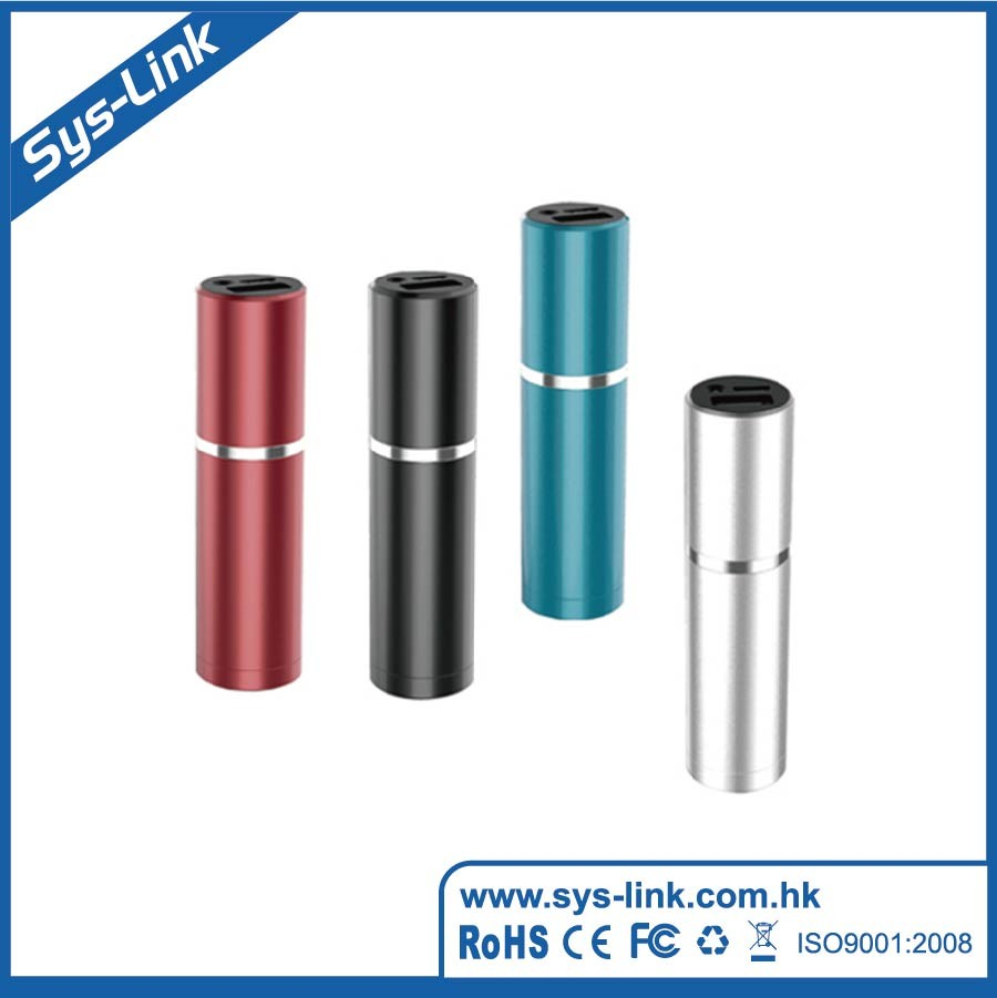 wholesale cylinder portable Power Bank 2600mAh mobile phone battery charger