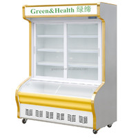 hot selling restaurant food display refrigerator,supermatket open display chiller and freezer