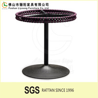 Manufacturer for modern design bar table with metal frame round furniture