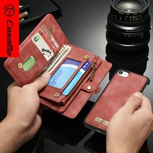for Apple iPhone 7 Case,CaseMe Smartphone for IPhone 8 Cases, Leather Flip Cover for IPhone X Case