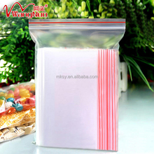 Customize Printed Clear plastic zipper pouch bag