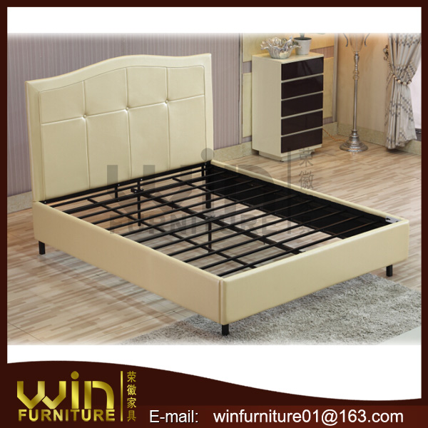 new arrival leather bed frame king size