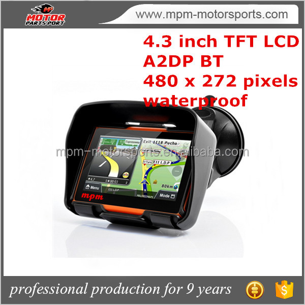 4.3 inch touch screen motorcycles navigation with Bluetooth
