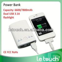 High capacity 7800mah portable euro cell phone charger power bank for iphone5S/for iphone5C