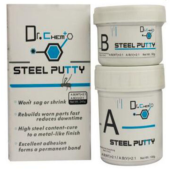 Steel putty epoxy putty for metal steel repair adhesives cure to a metal