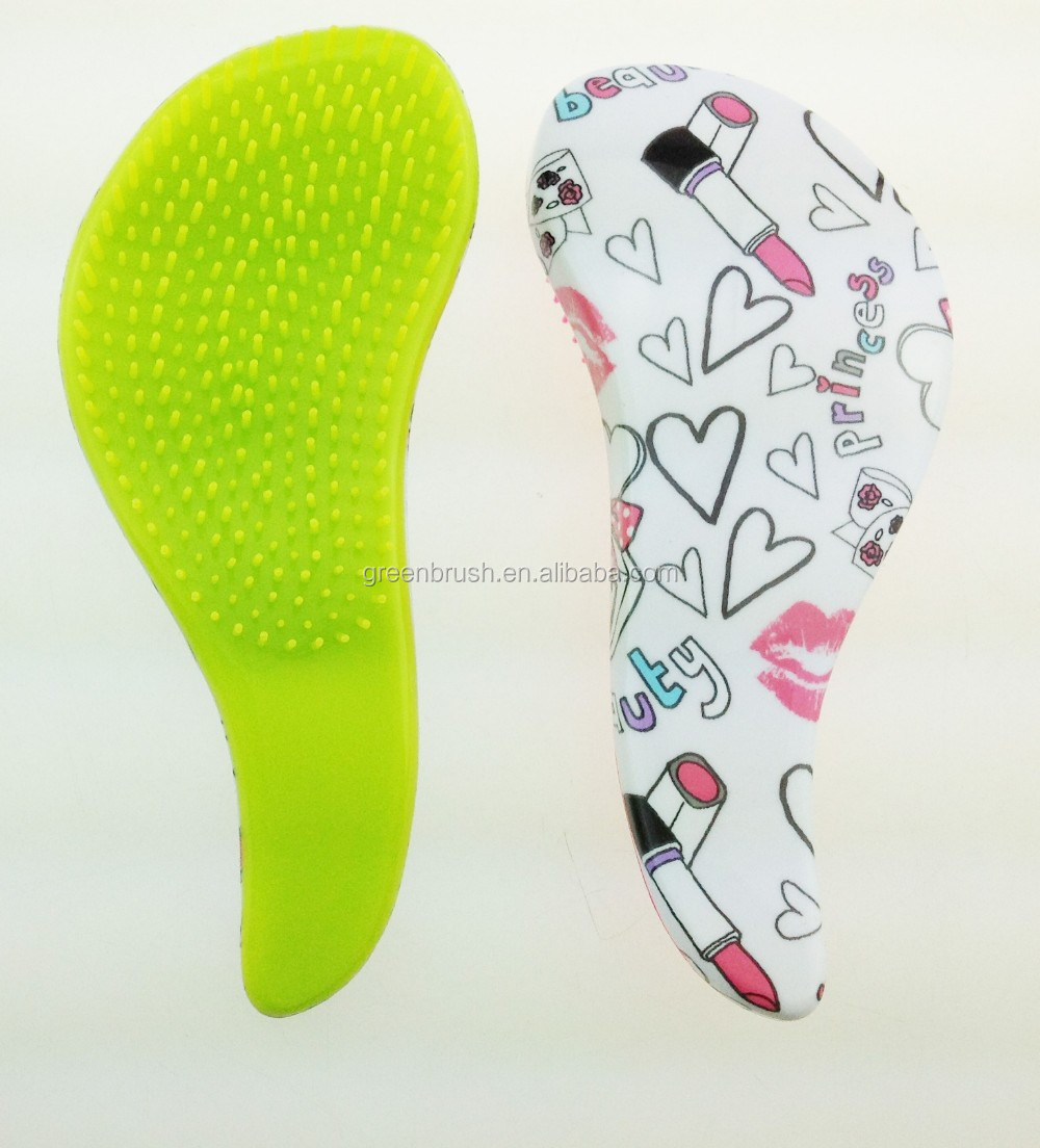 Hot selling promotional gift water transfer printing pet brush