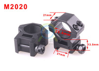 "High quality 2 x Medium Profile 20mm Weaver Picatinny Rifle Scope Mounts 25.4mm 1"" inch Ring"