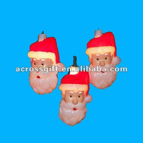Hanging ornament resin santa heads