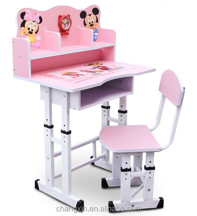 pretty wood primary student desk and chair set wholesale