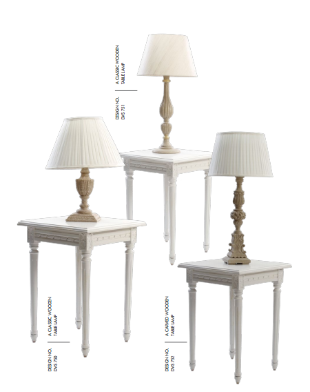 Classic White Wooden Table Lamps and Reading Lamps