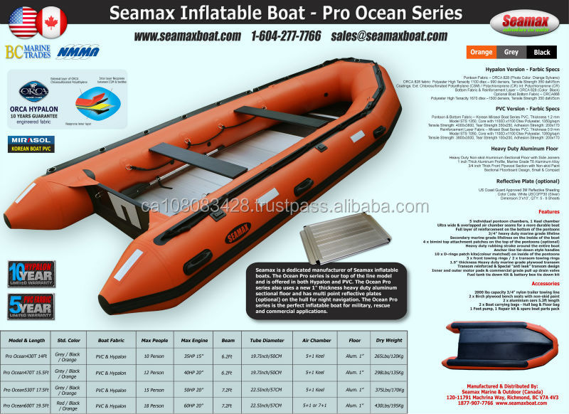 Seamax PRO Ocean Series Inflatable Boats
