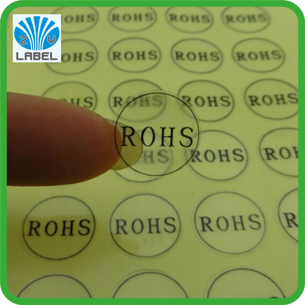 China Label Round ROSH clear Lable&water sticker transparent sticker
